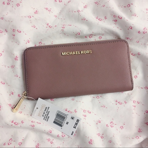 0b8110994e9366 MICHAEL Michael Kors Bags | Michael Kors Jet Set Wallet Dusty Rose ...